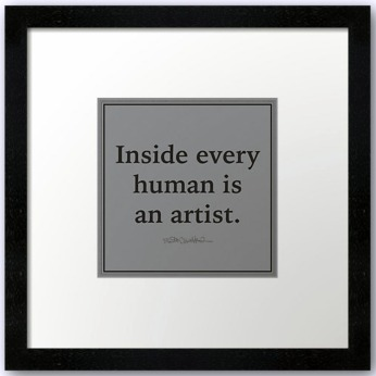 inside every human is an artist red bub
